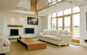 Higher Farm Granary Barn Conversion Living Room